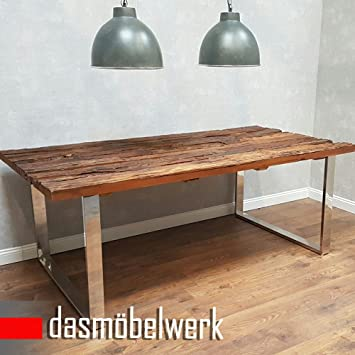 Uberlegen Dasmöbelwerk Tisch Massiv Recycling Holz Antik Look Esstisch Esszimmertisch  Massivholz 220 Cm AF2040