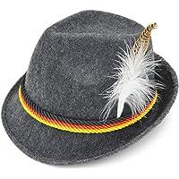 Melesh Adult Felt Swiss German Alpine Bavarian Oktoberfest Hat Cap