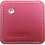 Orzero Cover and Key Chain For Tile Mate Finder Stylish Leather Case Protected From Scratch Wet Dust (Tile Finder Not Included) - Red