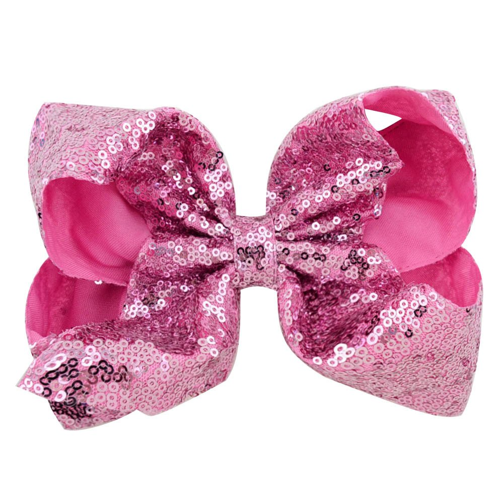 inSowni 8'' Big Large Glitter Bow Hair Clips Barrettes for Baby Girl Toddlers Kids Women (6PCS S2 (Size/8'')) by inSowni (Image #4)
