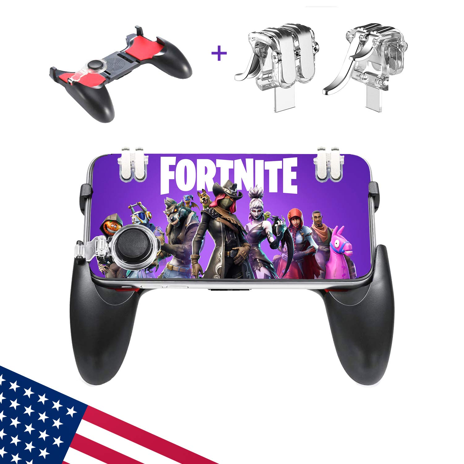 mobile controller mobile game controller compatible with fortnite iphone android mobile controller 3 in 1 compatible with fortnite pubg mobile - compatible fortnite mobile