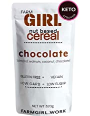 Farm Girl: Keto Chocolate Cereal Nut Based Cereal, Keto Approved, Wheat Free, Low Lectin,