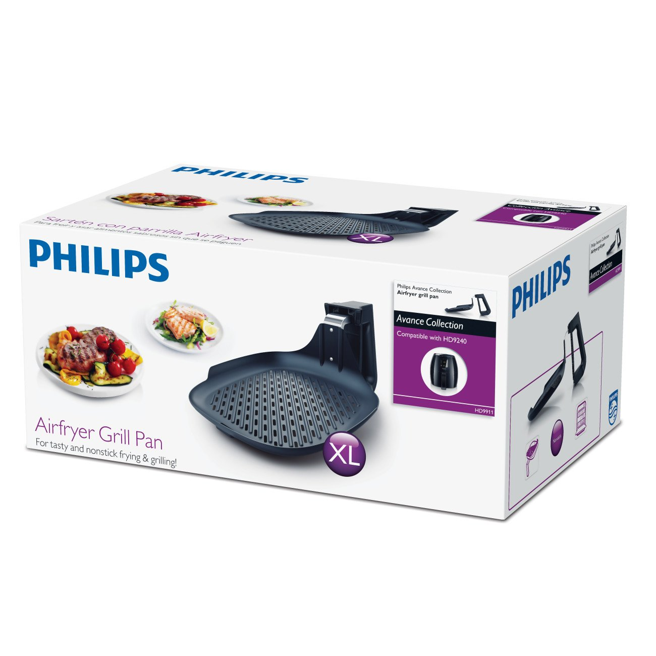 Philips HD9911/90 Airfryer Grill Pan Accessory, for XL model Airfryers