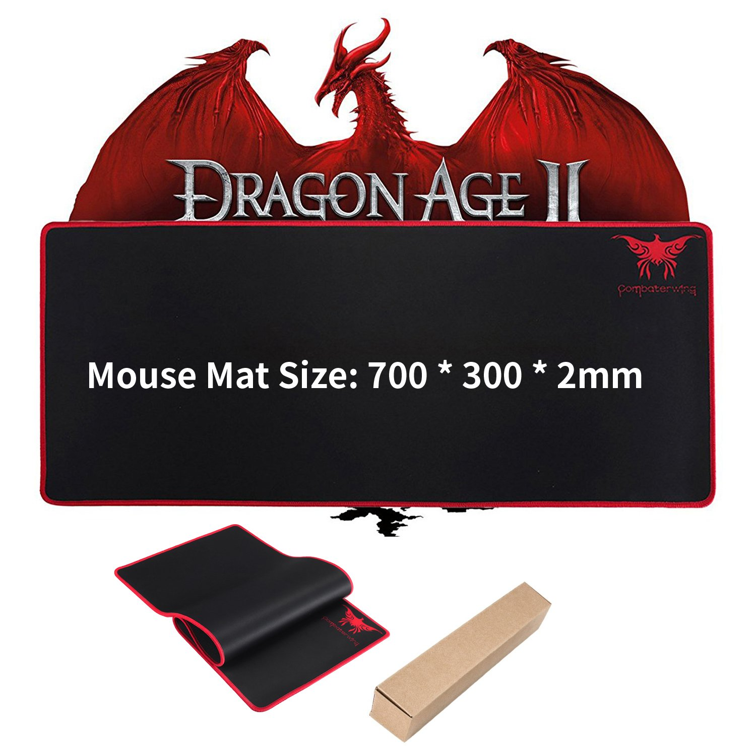 Extended Gaming Mouse Mat,ZaKitane 27.56 X 11.81 X 0.08\