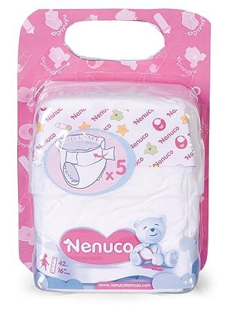 Famosa 700004497 Nenuco - Pack de 5 pañales para muñeco