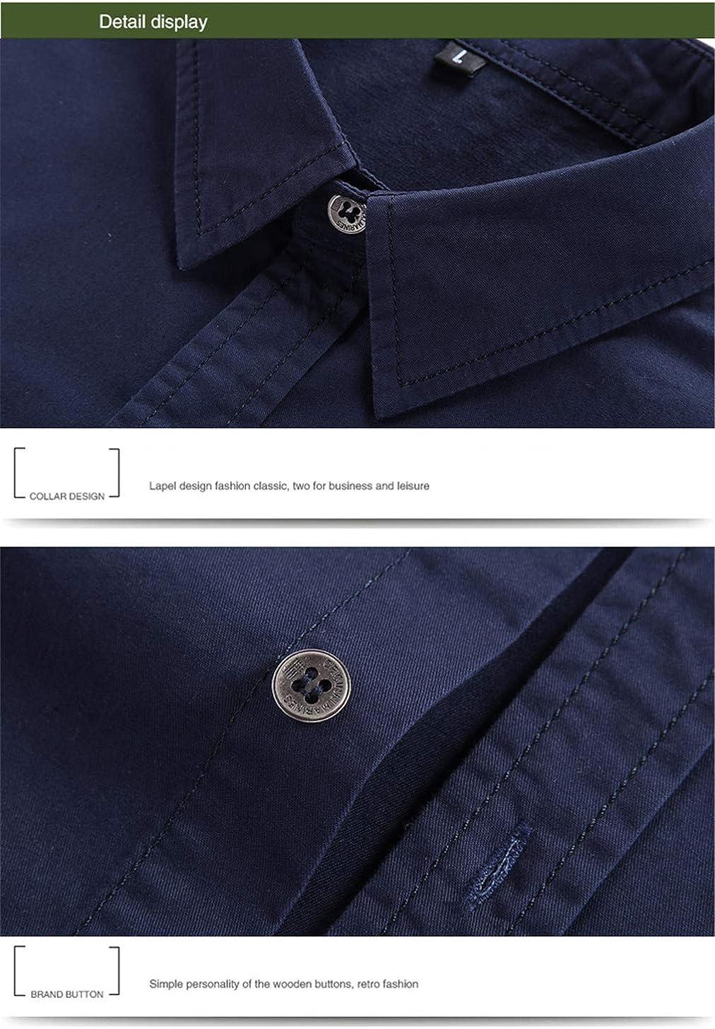 HK.YOL Summer Military Cotton Long Sleeve Air Force Breathable Mens Shirts
