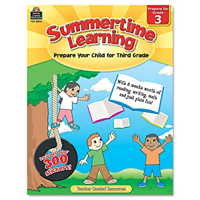 Teacher Created Resources Summertime Learning, Reading/Writing/Math, Grade 3 (8843) : Early Childhood Development Products : Office Products