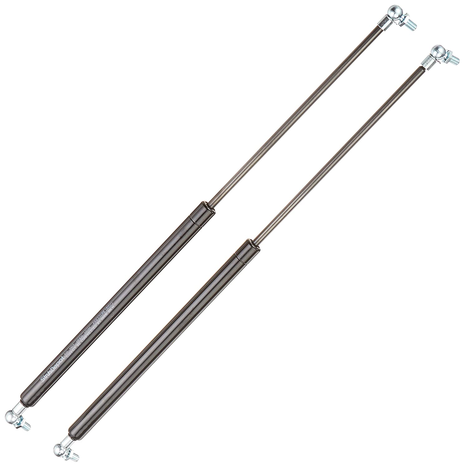 2 x New Replacement Gas Struts Springs w/ Free M8 Ball Stud Bolts 200N 200mm to 600mm (550mm) StrutsDepot U550
