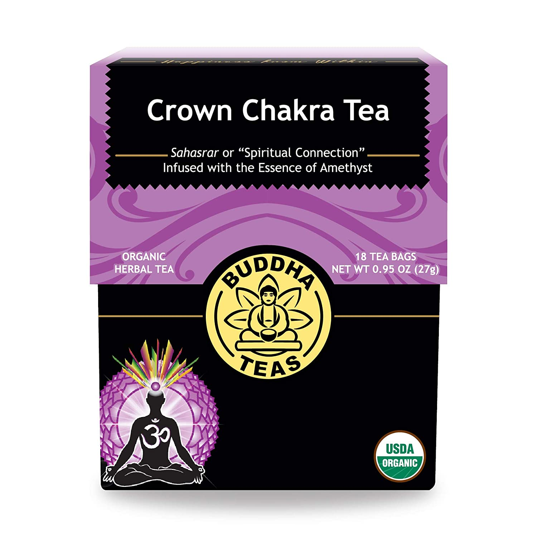 Organic Crown Chakra Tea - Kosher, Caffeine-Free, GMO-Free - 18 Bleach-Free Tea Bags.