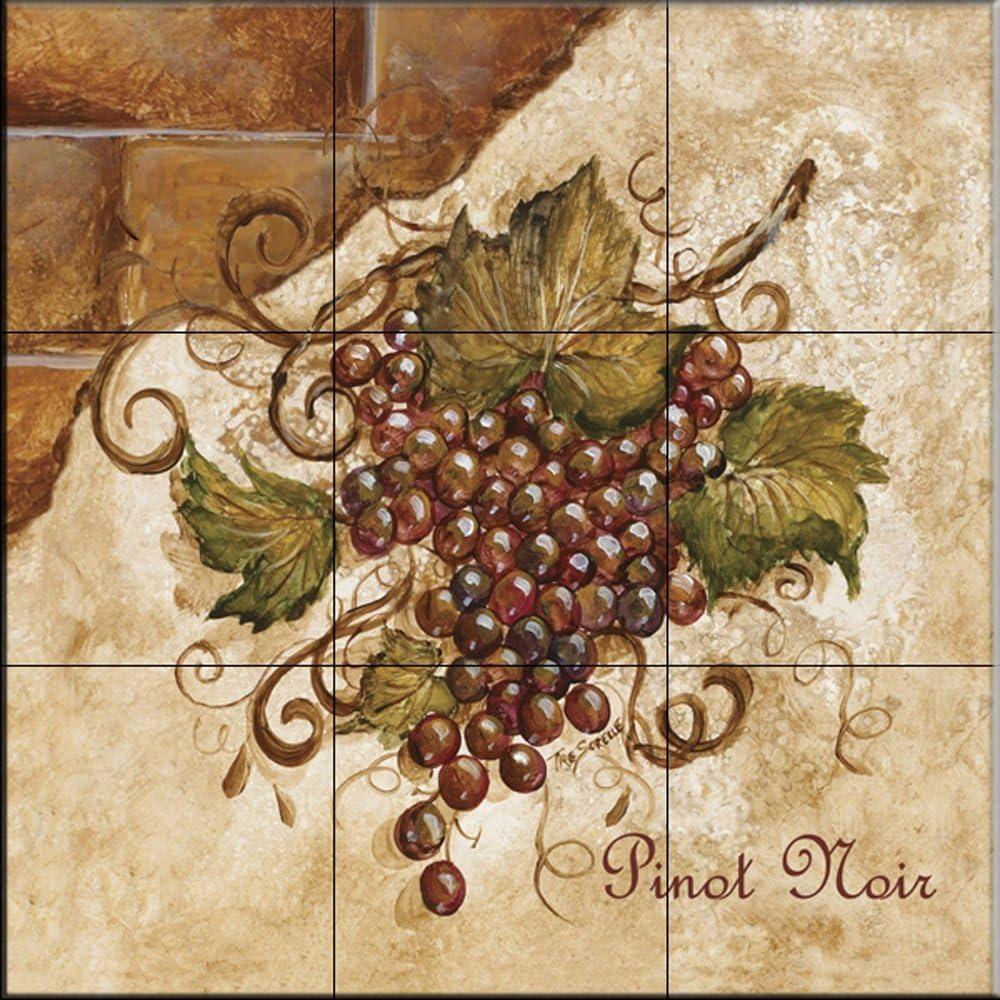 - Ceramic Tile Mural - Tuscan Grapes II - By TRE Sorelle Studios