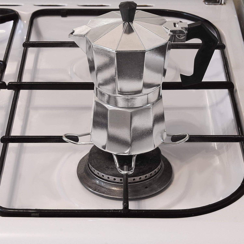Amos H - Reductor de anillos de gas para hornillo de cocina o cafetera, acero inoxidable