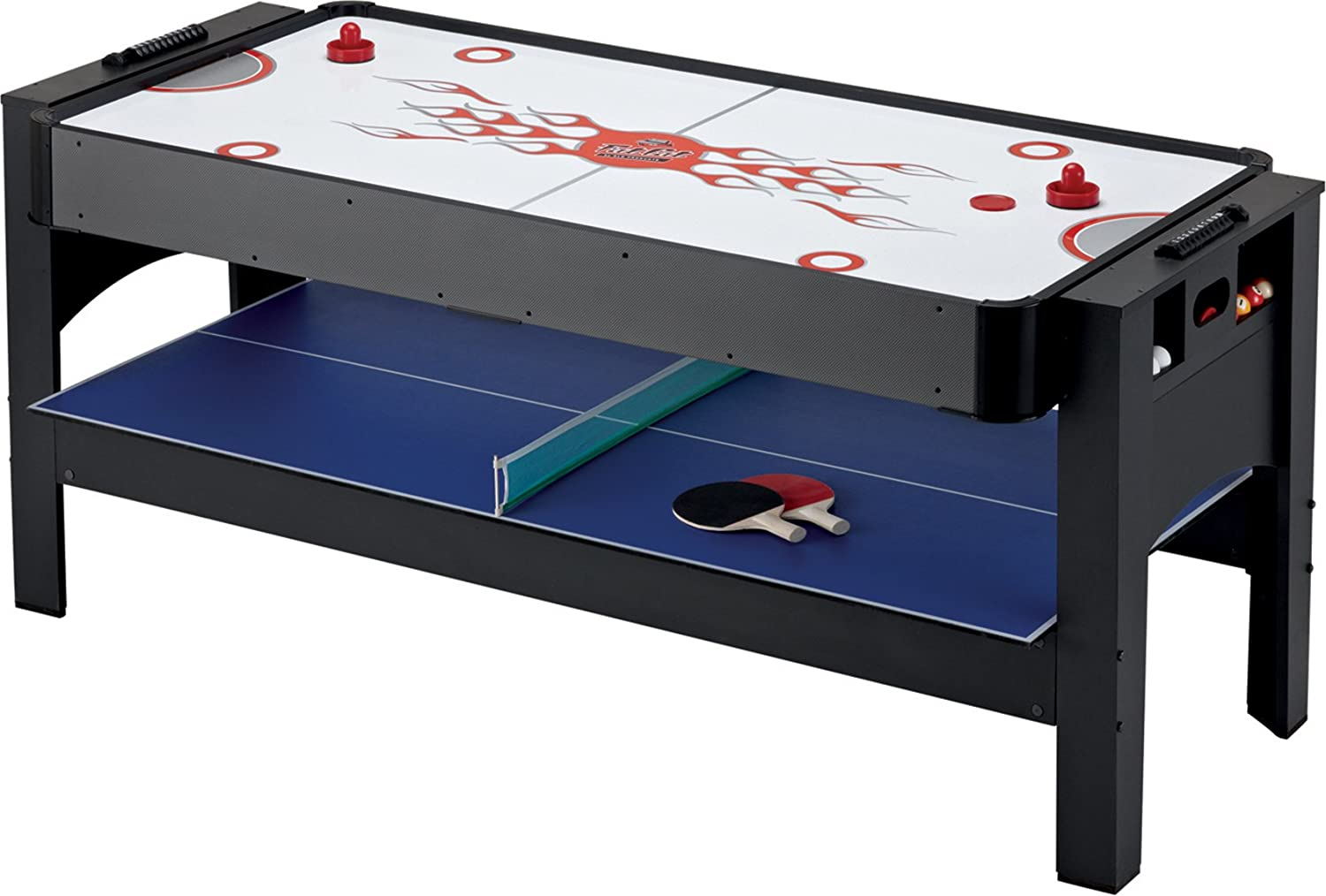 Amazon.com : Fat Cat Original 3 In 1, 6 Foot Flip Game Table (Air Hockey,  Billiards And Table Tennis) : Combination Game Tables : Sports U0026 Outdoors