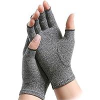 HEALIFTY 1 par guantes de artritis guantes de artritis de compresión de dedo abierto para computadora escribiendo tamaño S