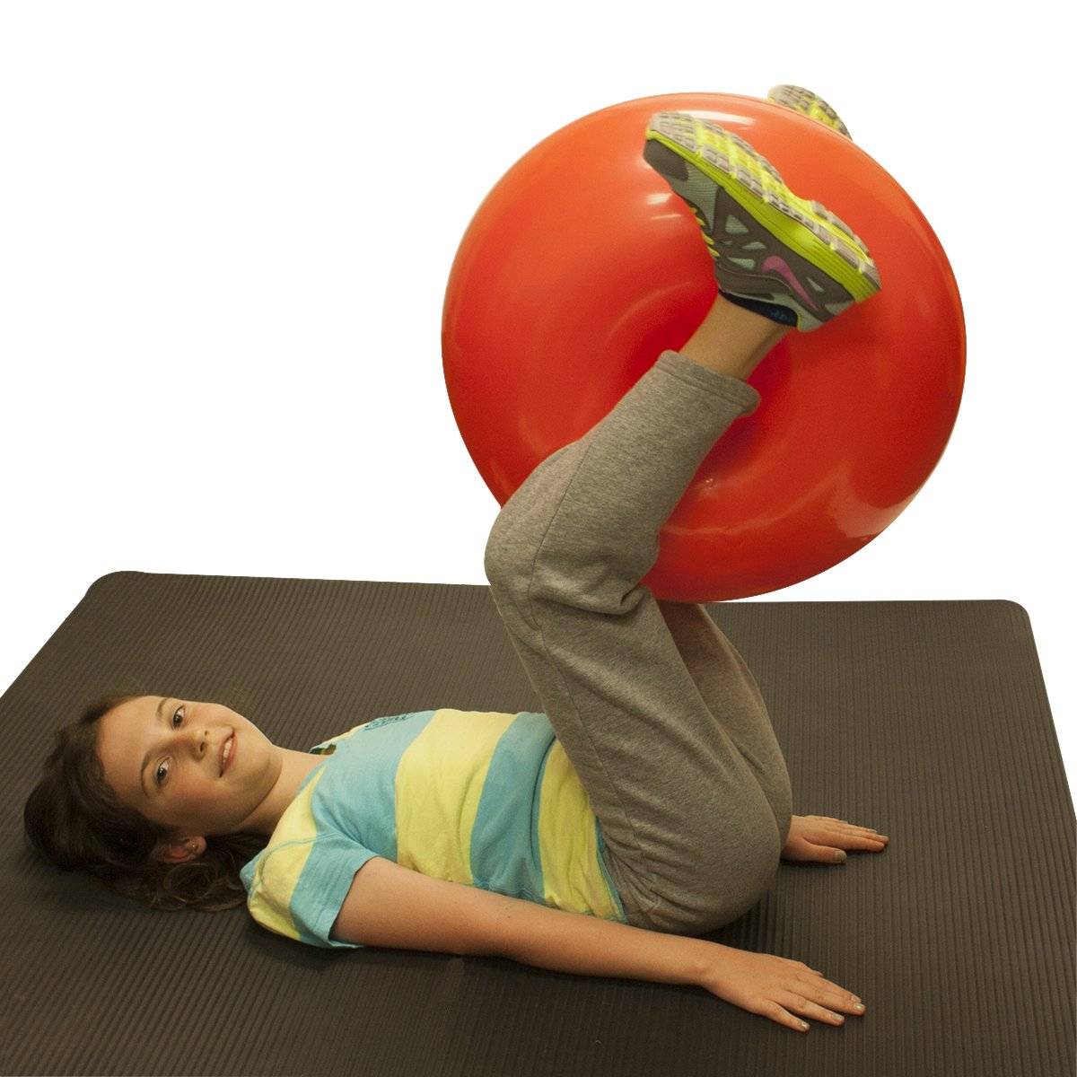17.7 Yellow CanDo Inflatable Donut Ball