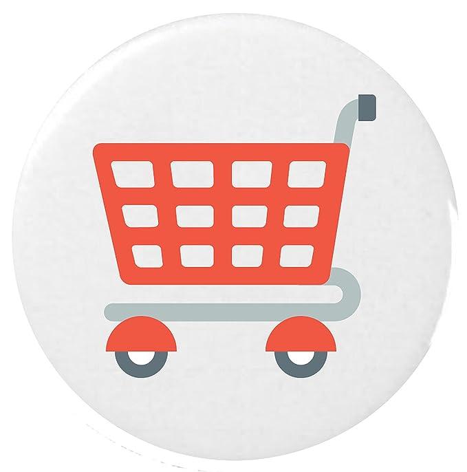 Carrito Insignia Botón Emoji 25mm Button Badge / Shopping Trolley Emoji 25mm Button Badge: Amazon.es: Ropa y accesorios