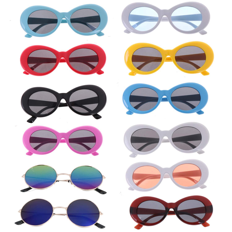 Amazon.com: Xgood 10 paquetes de gafas ovaladas con marco ...