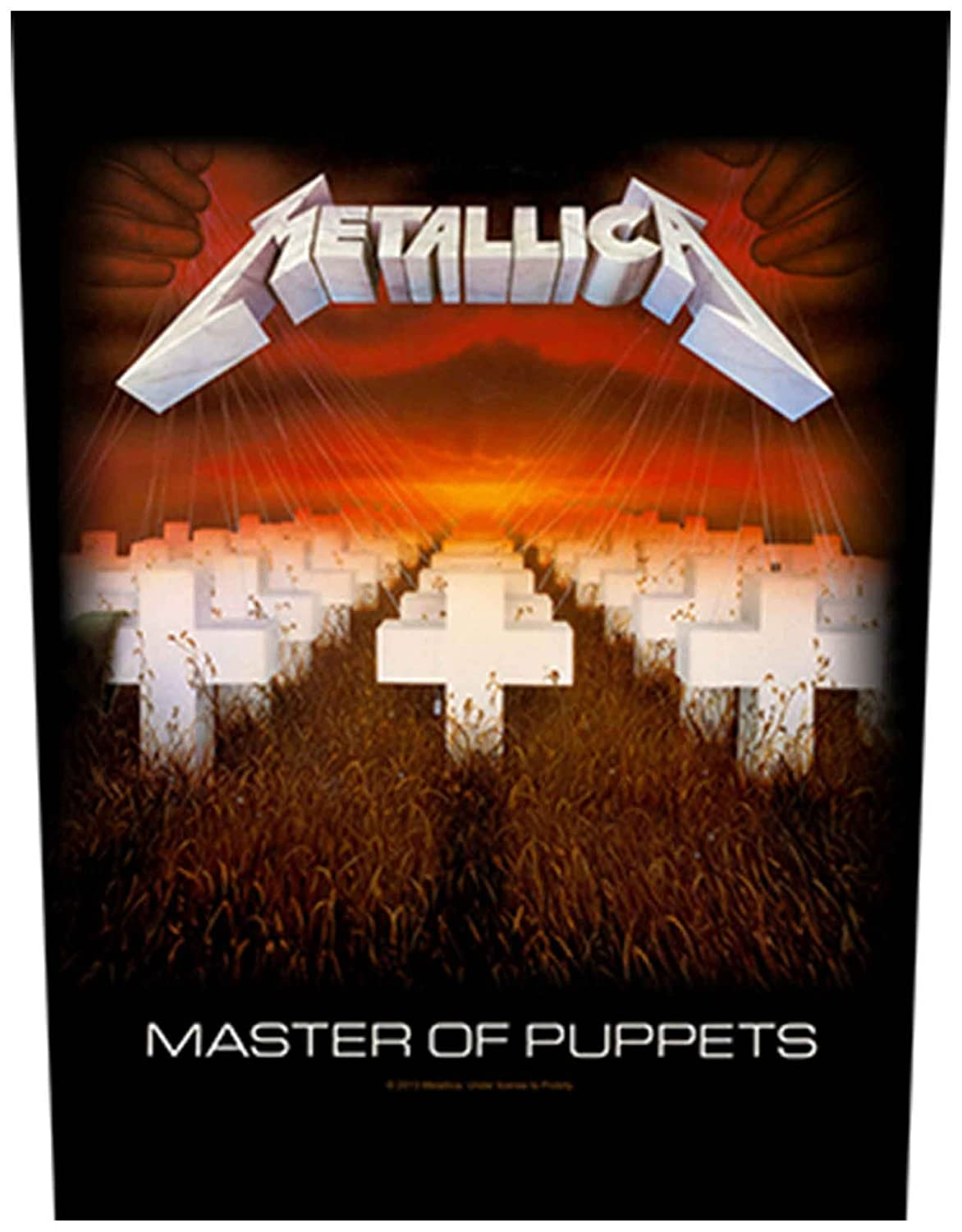 Metallica Back Patch Master of Puppets Official New Black Woven (36cm x 29cm)