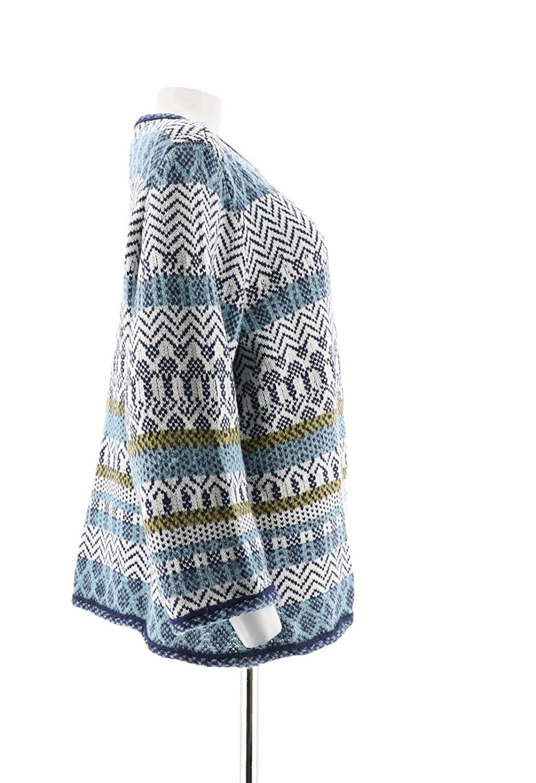 Joan Rivers Jacquard Knit Cardigan 3//4 SLVS A302208