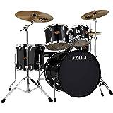 "Tama IP52KCBK Imperialstar 5-Piece Complete Drum Kit with 22"" Bass Drum & Hardware, Cymbals - Black"