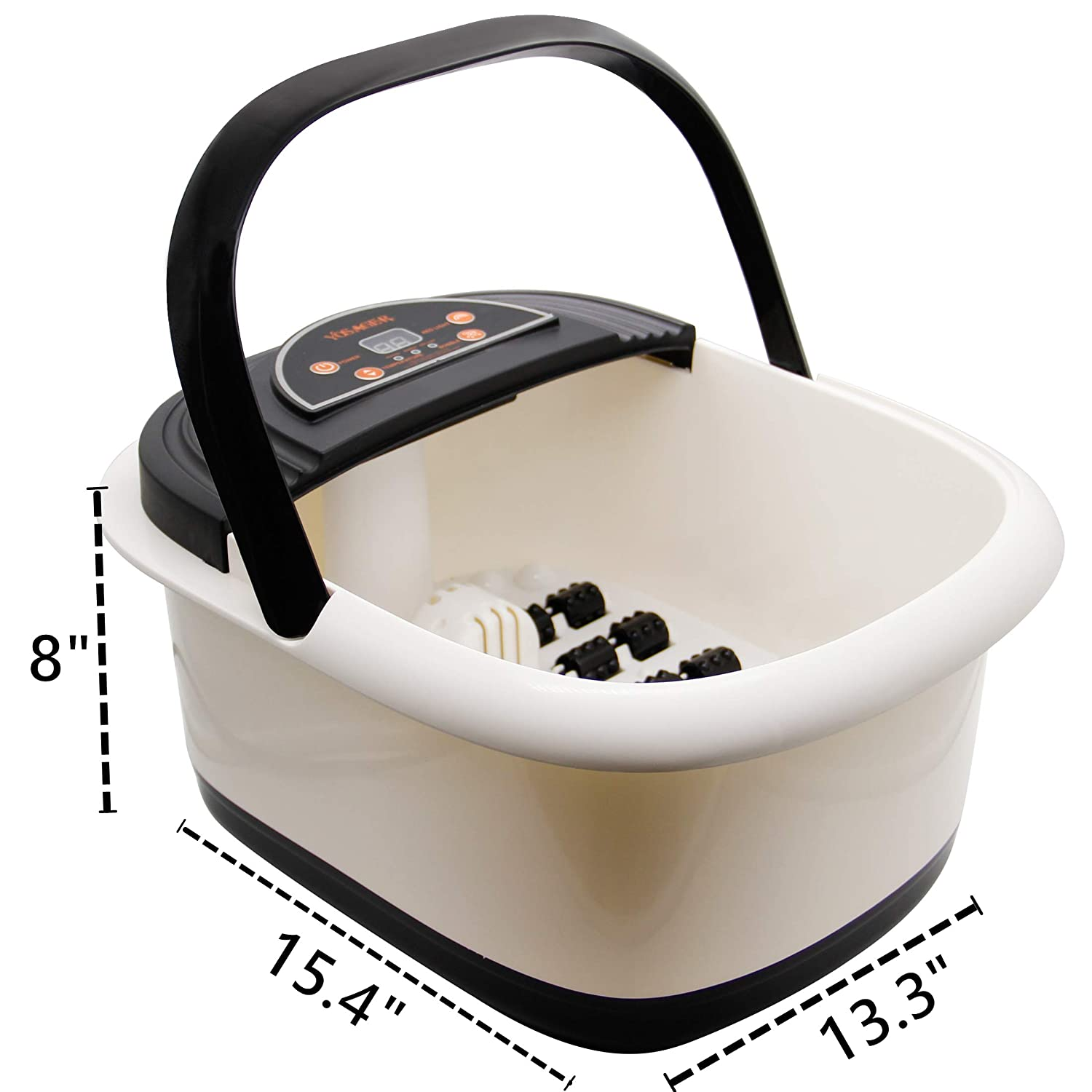 yosager Foot Bath Spa with Heat, Bubbles Jets, Foot Massager with Digital Temperature Control, Infrared Relieve Stress, Pedicure Spa, 20 Massage Rollers: Beauty