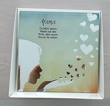 Amazon De Formano Glasbild Spiegelweissheit Mama Muttertag Du Haltst