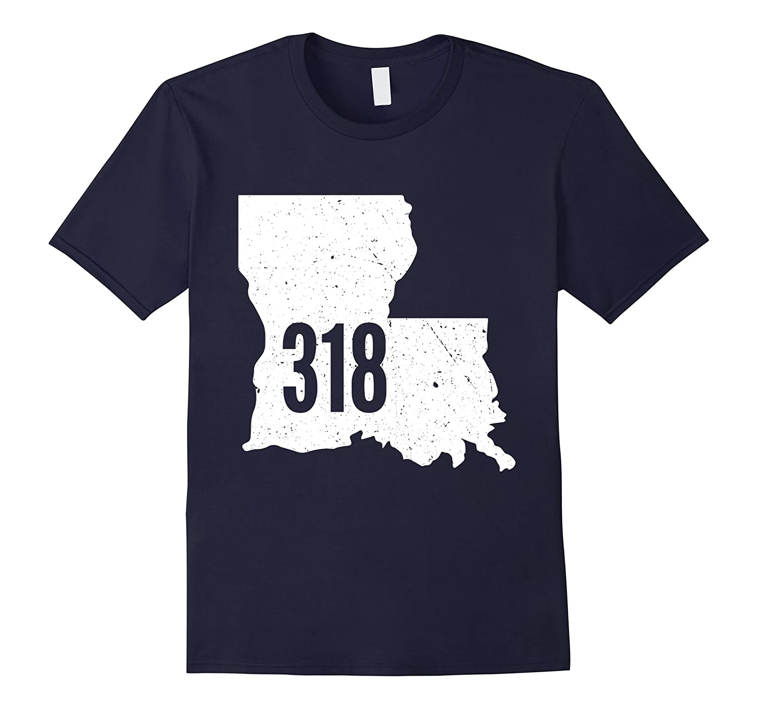 318 Louisiana Boot Area Code Pride Outline State T-Shirt-TH