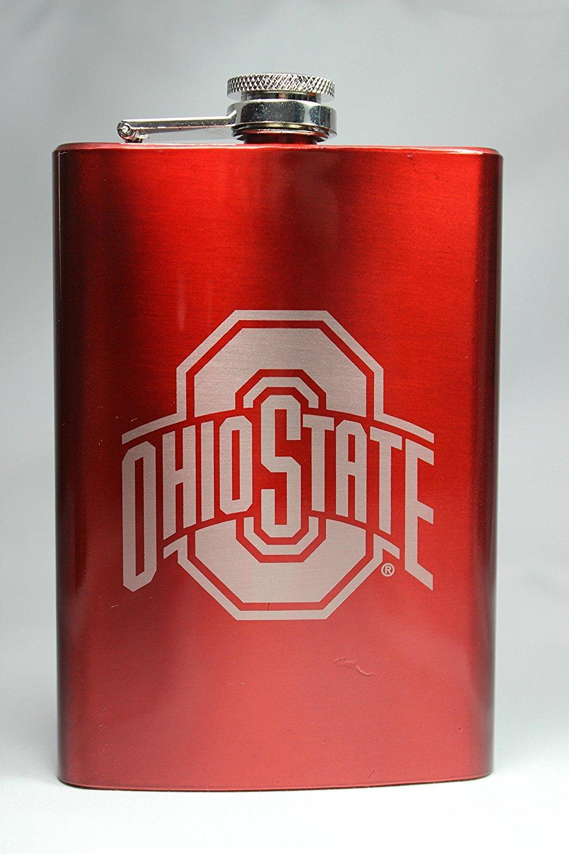 超高品質で人気の Ohio State Buckeyes 8 NCAAロゴフラスコ8オンス 8 oz レッド レッド ATHFLKRD B015S7KOQE レッド B015S7KOQE, WithHeart:5993ba6c --- domaska.lt