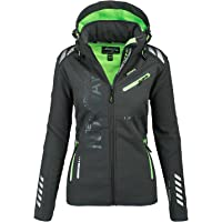 Geographical Norway Damen Softshell Funktions Outdoor Regen Jacke Sport