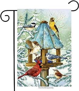 "Briarwood Lane Cold Feet, Warm Hearts Winter Garden Flag Birds Gathering 12.5"" x 18"""