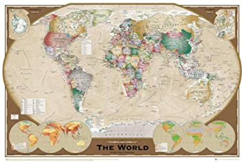 Amazon gb eye world map tripel poster prints posters prints gb eye world map tripel poster gumiabroncs Image collections