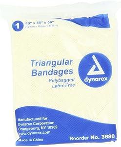 Dynarex 12 Triangular Bandage 40x40x56, 12 Count