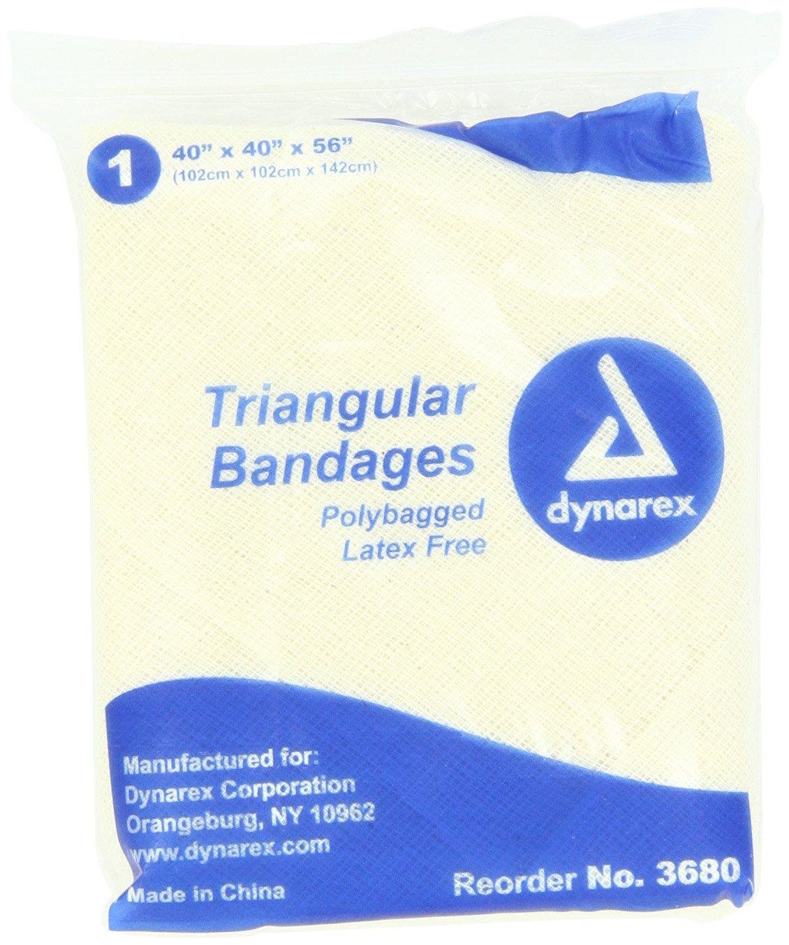 Amazon.com: Dynarex 12 Triangular Bandage 40x40x56, 12 Count: Health ...
