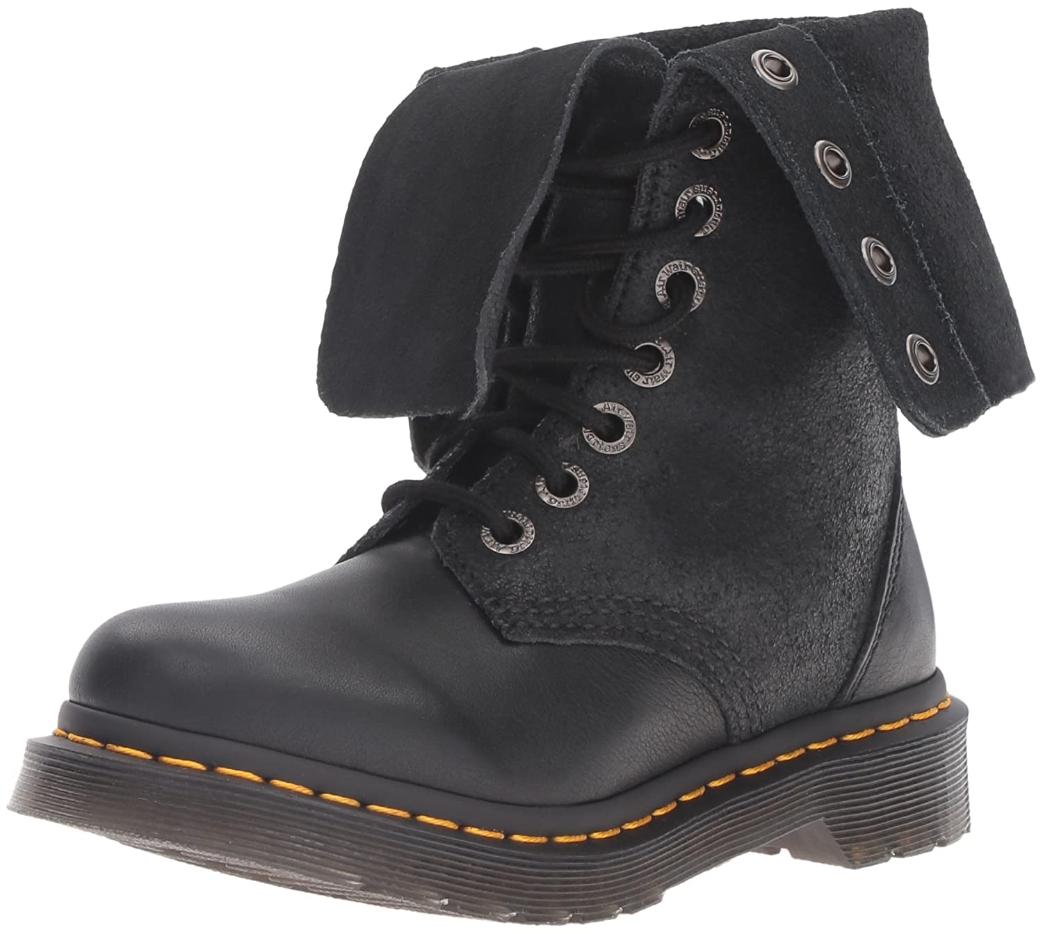 Dr. Martens Women's Hazil Black Virginia Leather Fashion Boot B012PWMDRI 4 Medium UK (6 US)|Black Virginia Leather