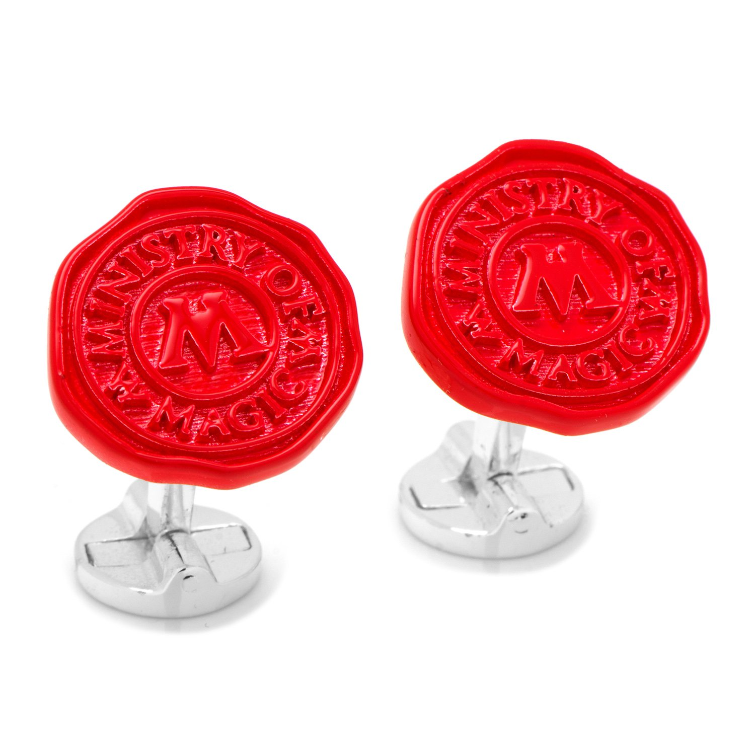 Harry Potter Ministry of Magic Wax Stamp Cufflinks, Officially Licensed by Cufflinks (Image #2)