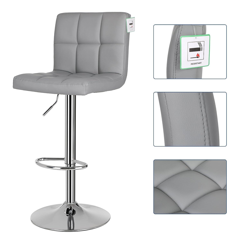 Amazon.de: Songmics 2 x Barhocker Stühle mit Große Sitze Frühstück ...