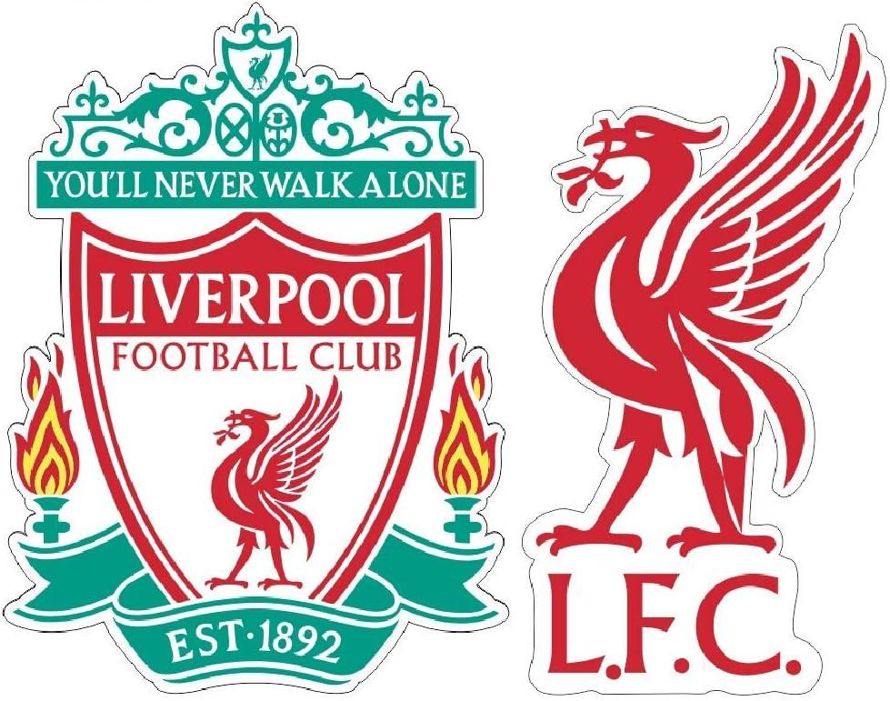 FC Liverpool Bird Footboll Sticker (Any Sizes) LFC Liverpool Emblem Soccer Decal Vinyl Team Colors (10 inch)