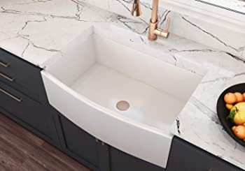 TRUE FIRECLAY MOCCOA Regallo Reversible Farmhouse Sink