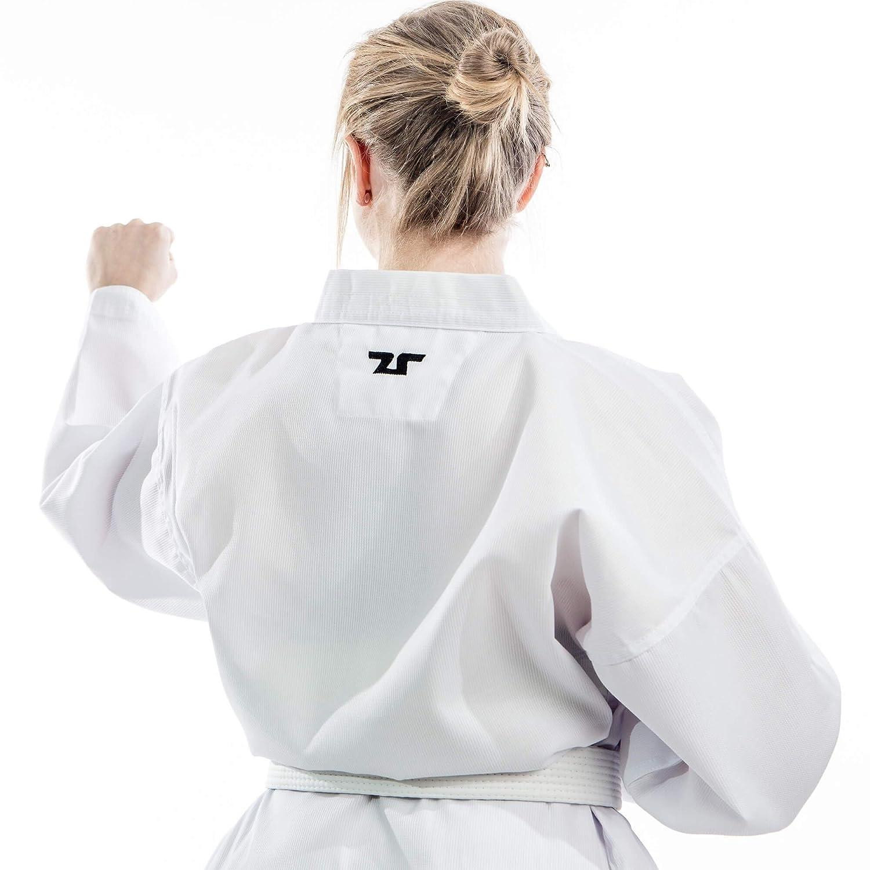 Tusah Taekwondo Suit with White Starter Certified WTF Dobok Revers