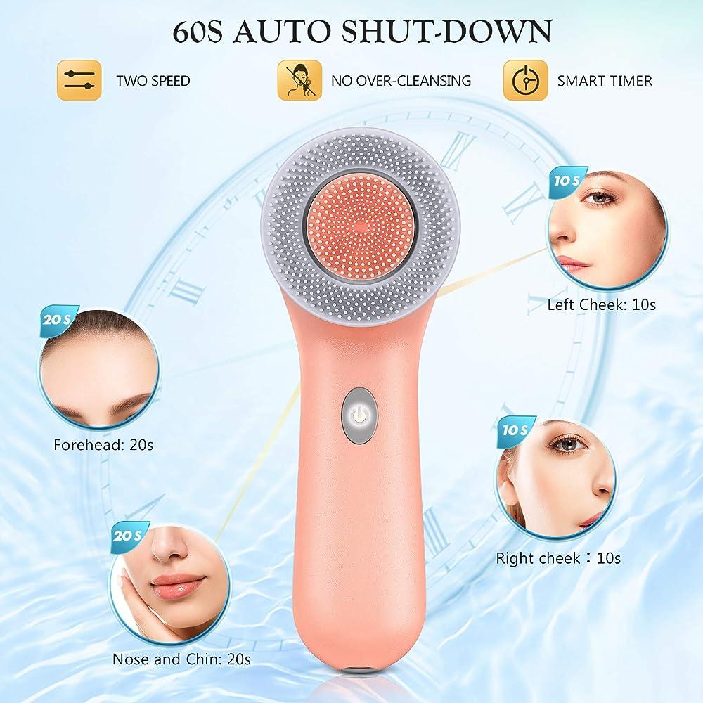 Facial Cleansing Brush (Orange)