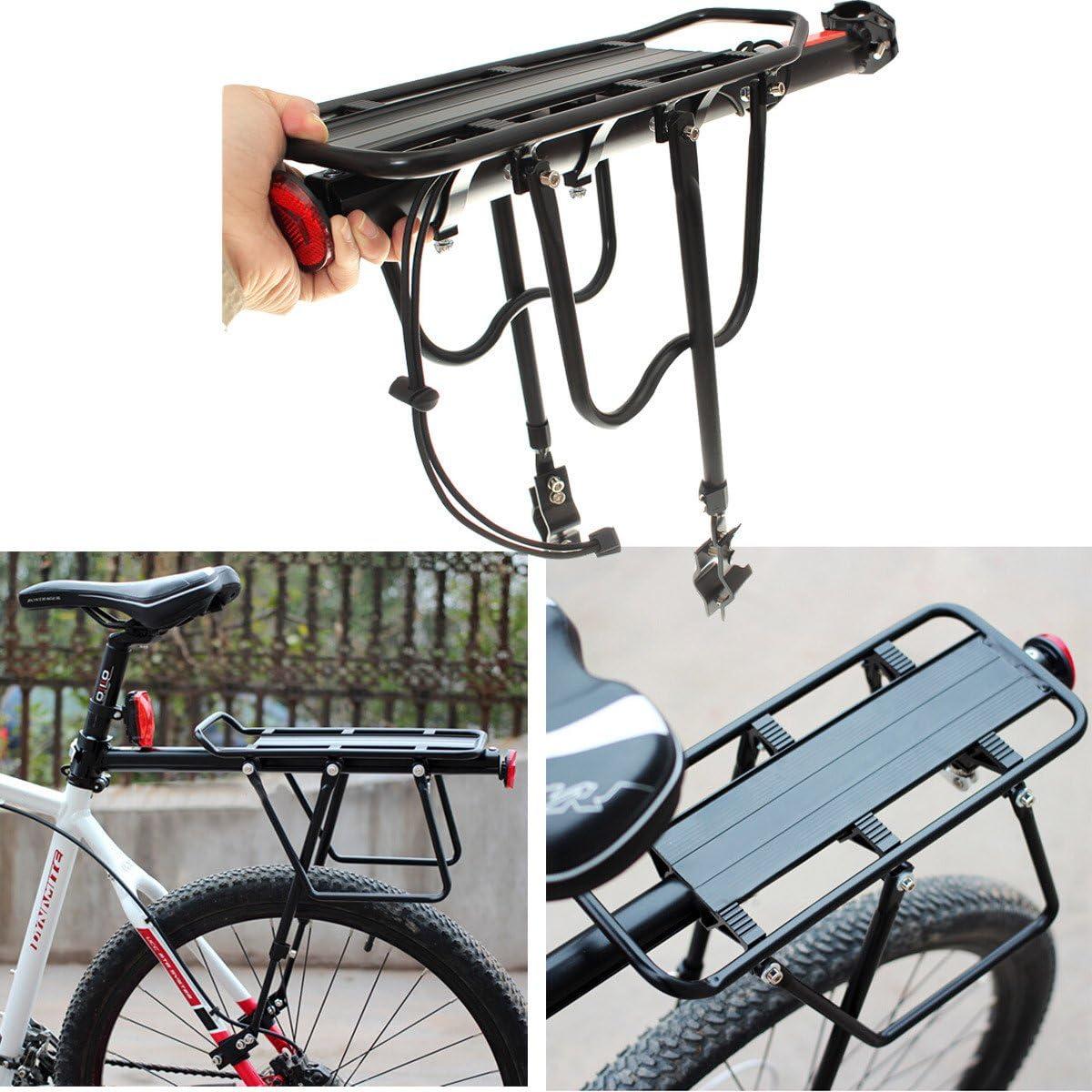 Black Bike Quick Release Back Seat Post Pannier Carrier Rear Rack Cover Cushion