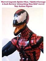 Review: Marvel Legends Spider-Man / Spider-Carnage 6 Inch Review (Absorbing Man BAF wave) Toy Action Figure