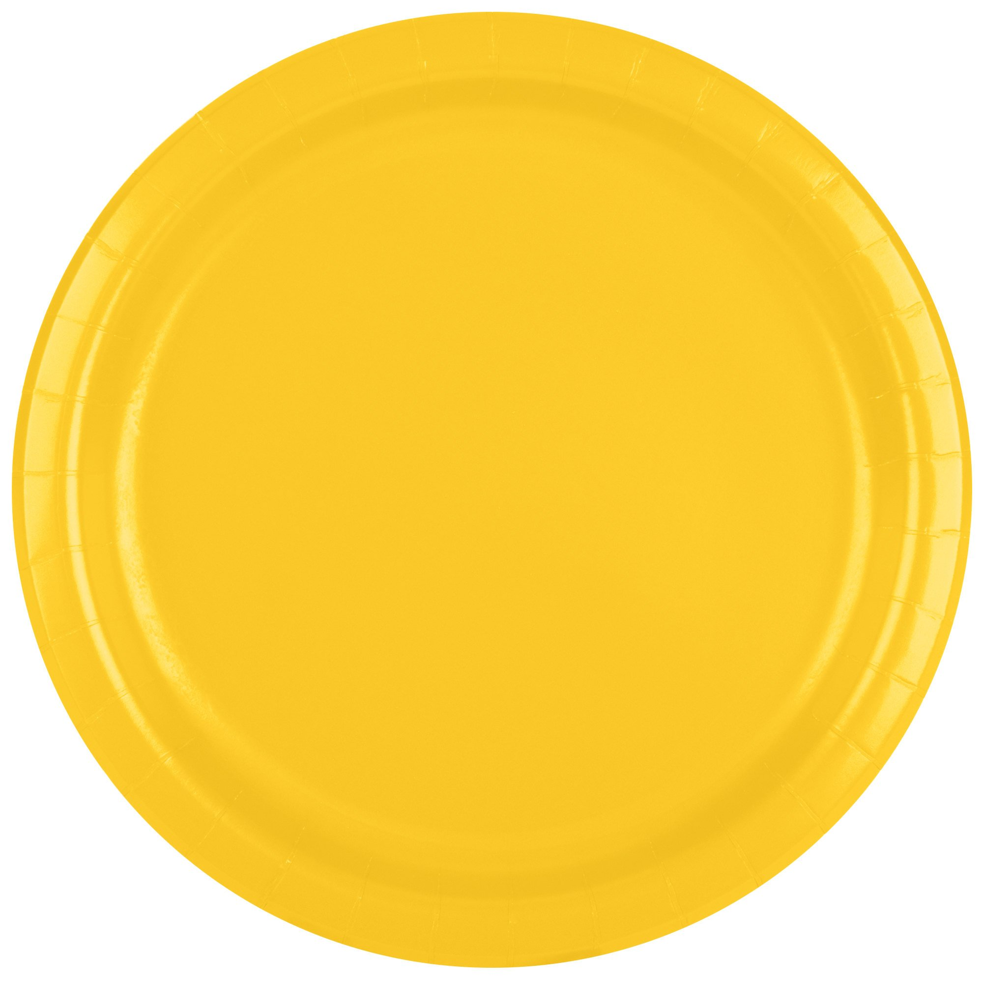 Creative Converting 471021B 9'' School Bus Yellow Paper Plate - 24/Pack
