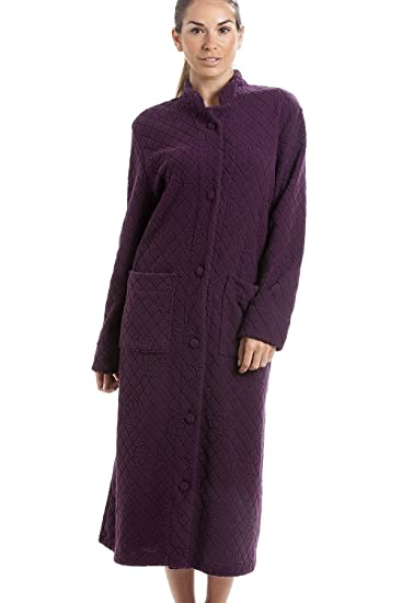Camille Womens Zip or Button Front Dressing Gown House Coat 16 18 Purple B   Camille  Amazon.co.uk  Clothing 0672726d4