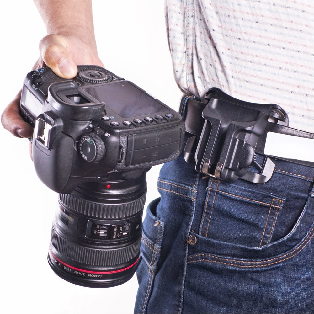 DSLR cámara cintura hebilla de cinturón Botón sistema de clip ...