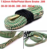 Nuoya001 .30 CAL Gun Cleaning Bore Green Grey cleaner Kit Rope For 7.62MM Tube Rifle Pistol