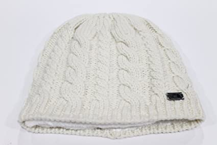 3d72362fa Amazon.com: The North Face Women's Fuzzy Cable Vintage White Beanie ...