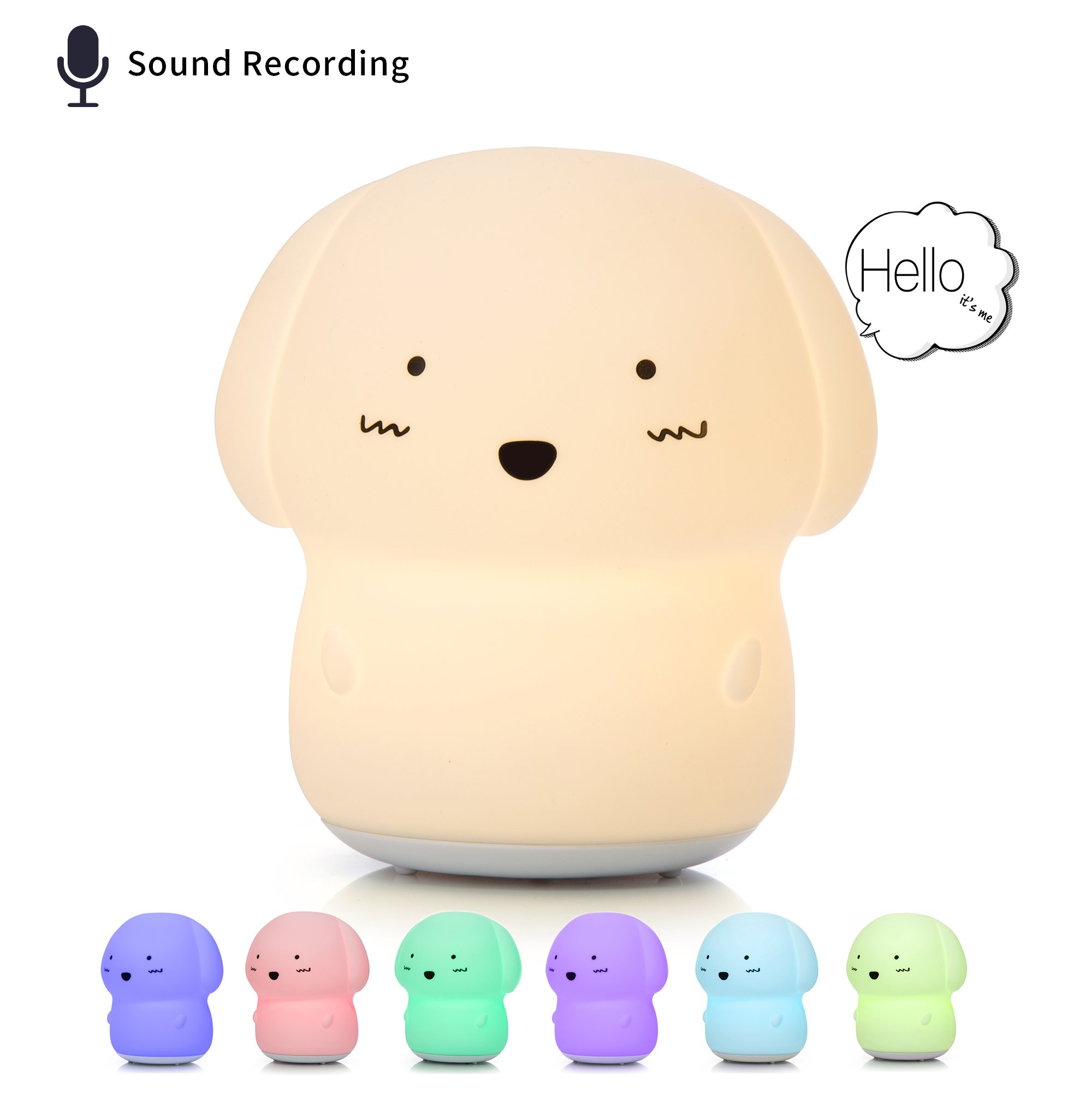 [NEW] Night Light for Children, Voice Recorder Lamp, Cute Baby Toys, Puppy Dog Toys for Girls/Boys/Toddler, Nursery Bedroom Decor, Gift Ideas for 3 to 12 Year Old Girl.
