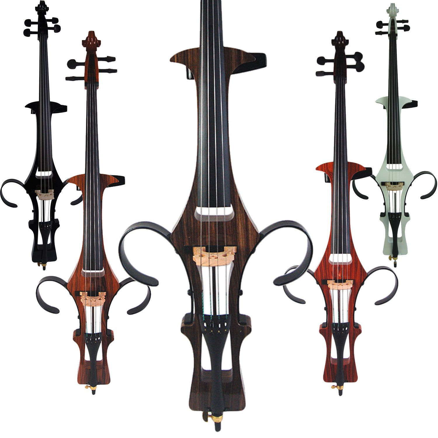 Leeche Handmade Professional Solid Wood Electric Cello 4/4 Full Size Silent Electric Cello-Wood Grain