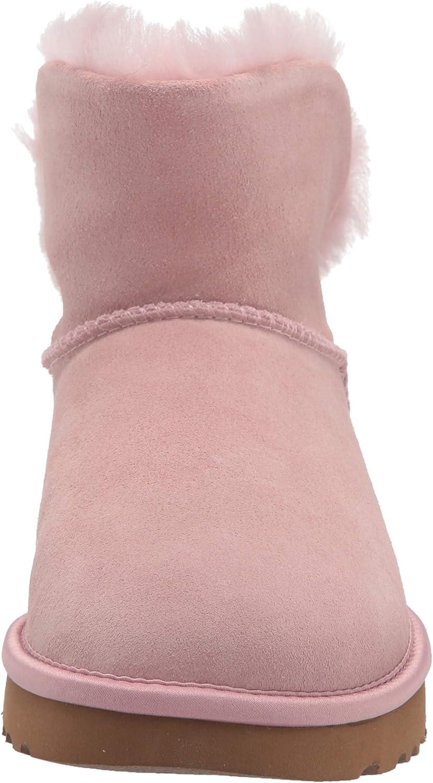 UGG Damen Classic Bling Mini Pferdeschuh, schwarz Rosa Kristalle