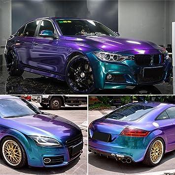 *Premium Matte Chameleon Color Change Purple Blue Sticker Decal Car Vinyl Wrap